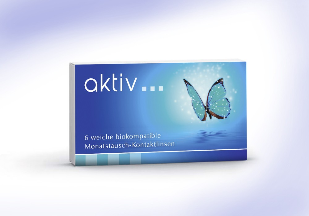 aktiv - biokompatible Monatsaustausch-Kontaktlinse mit UV-Filter - 6er Box