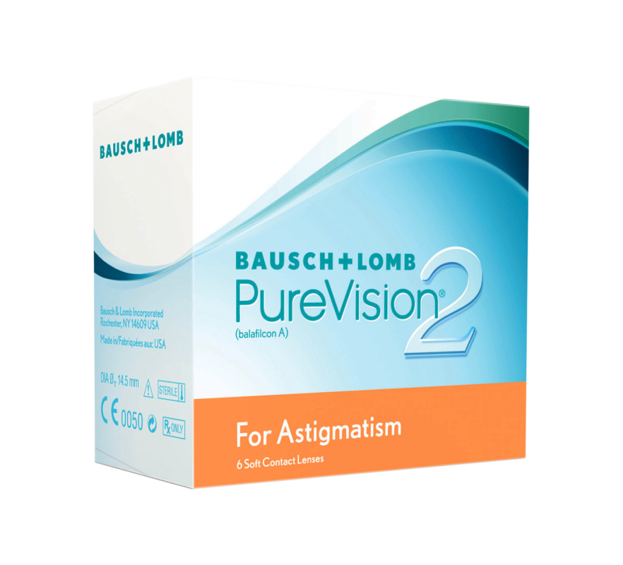 PureVision2 HD for Astigmatism - torische Monatslinsen / 6er Box