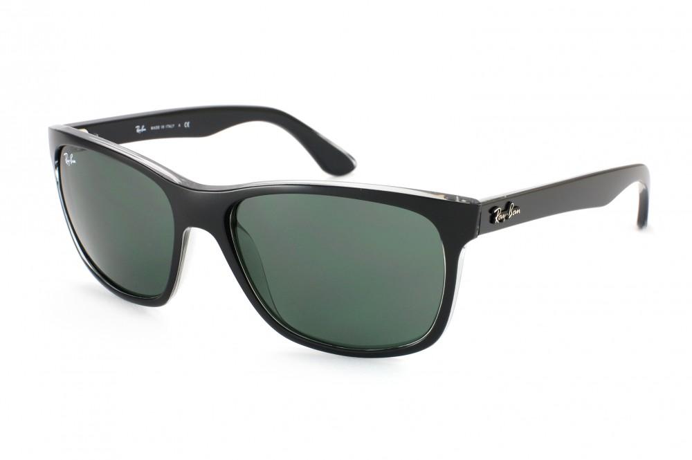 Ray-Ban RB4181 Sonnenbrille Mattschwarz auf Transparent 6130 57mm MQqhx8ZB