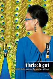 "switch it Brillenputztuch ""Pfau"""