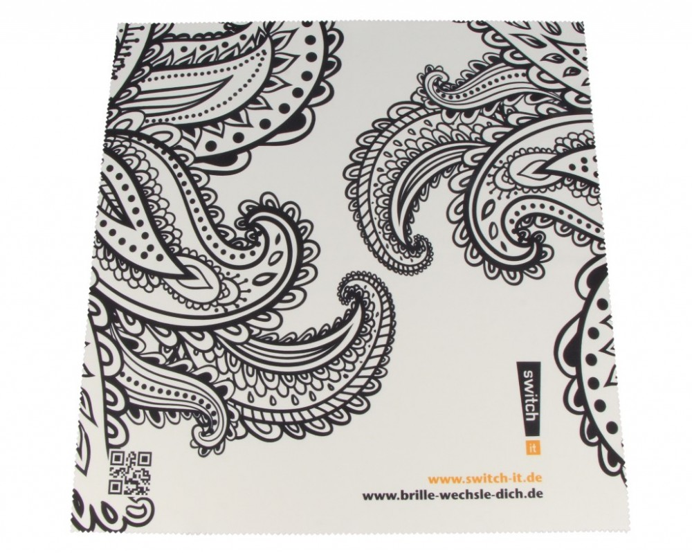 switch it Brillenputztuch Paisleymuster E291