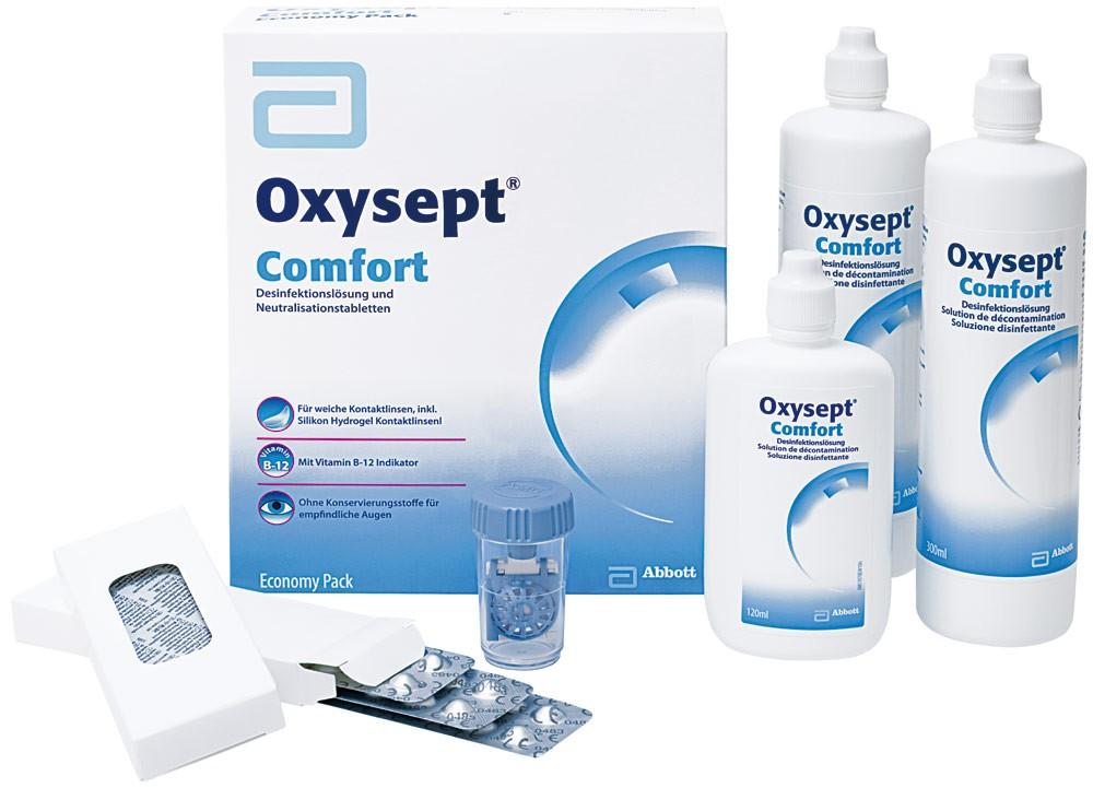 Oxysept Comfort Economy Pack - 2 x 300ml & 1 x 120ml